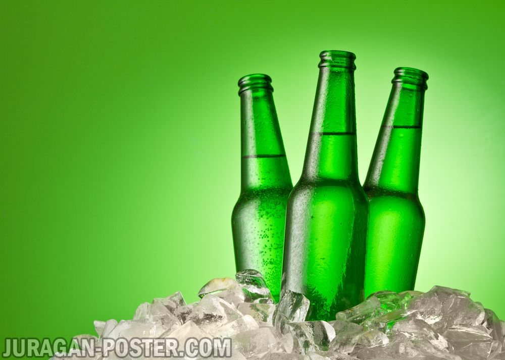 Collection Of Bottle Of Beer In Ice Cold Drink Ice Cube