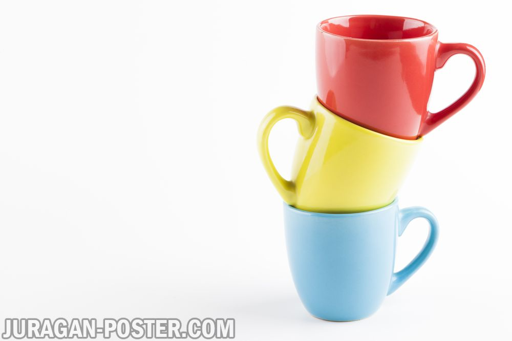 Collection Of Coffee Cup Girl Drinks Coffee Jual Poster