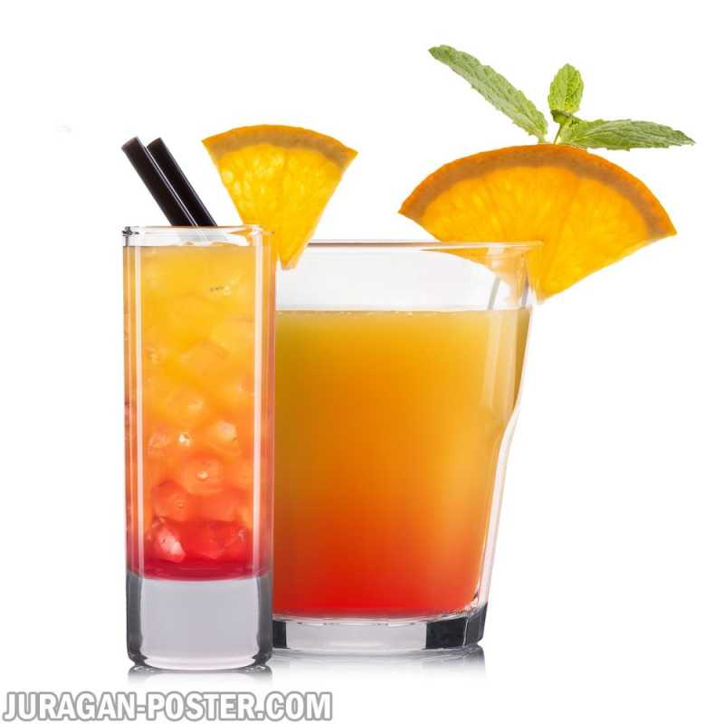 Set Of Orange Cocktails Jual Poster Di Juragan Poster