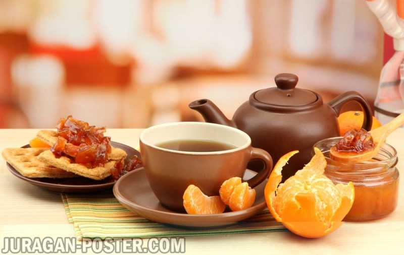 Tasty Fragrant Tea And Fruit Drinks Jual Poster Di