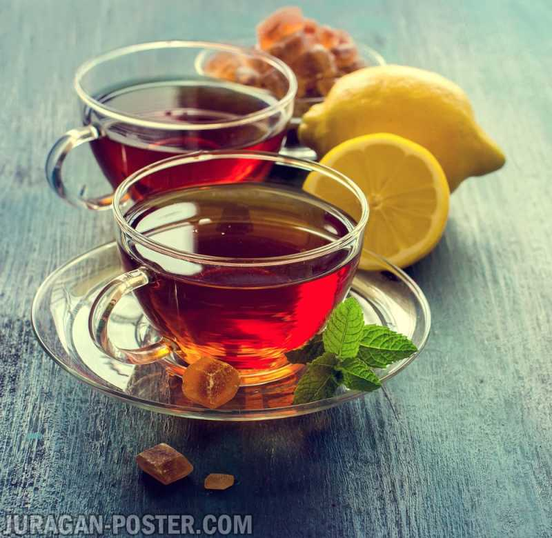 Tasty Fragrant Tea And Fruit Drinks Jual Poster Di