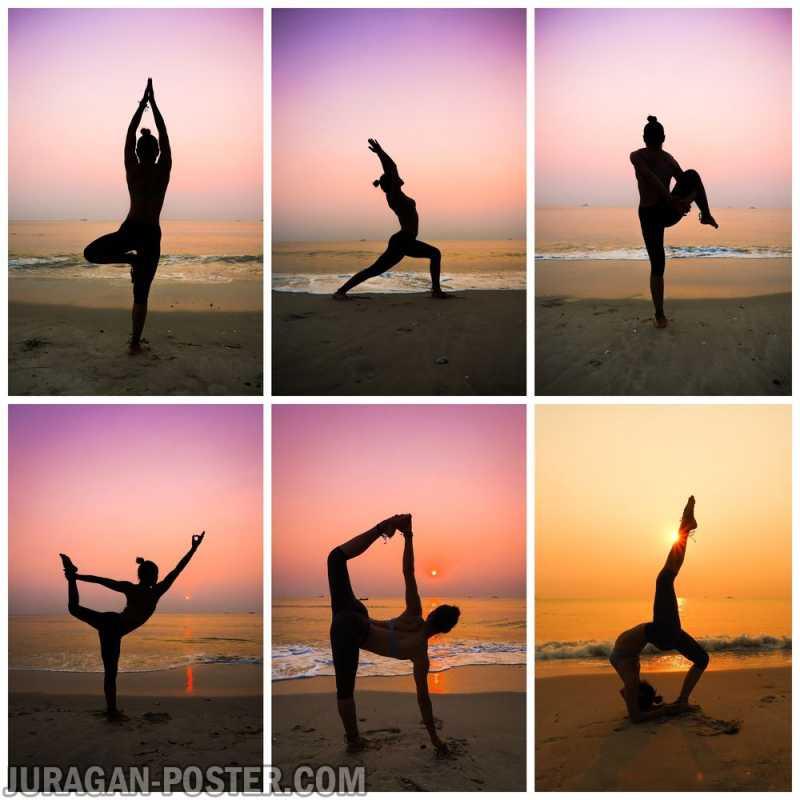 Yoga Poses And Asanas Jual Poster Di Juragan Poster