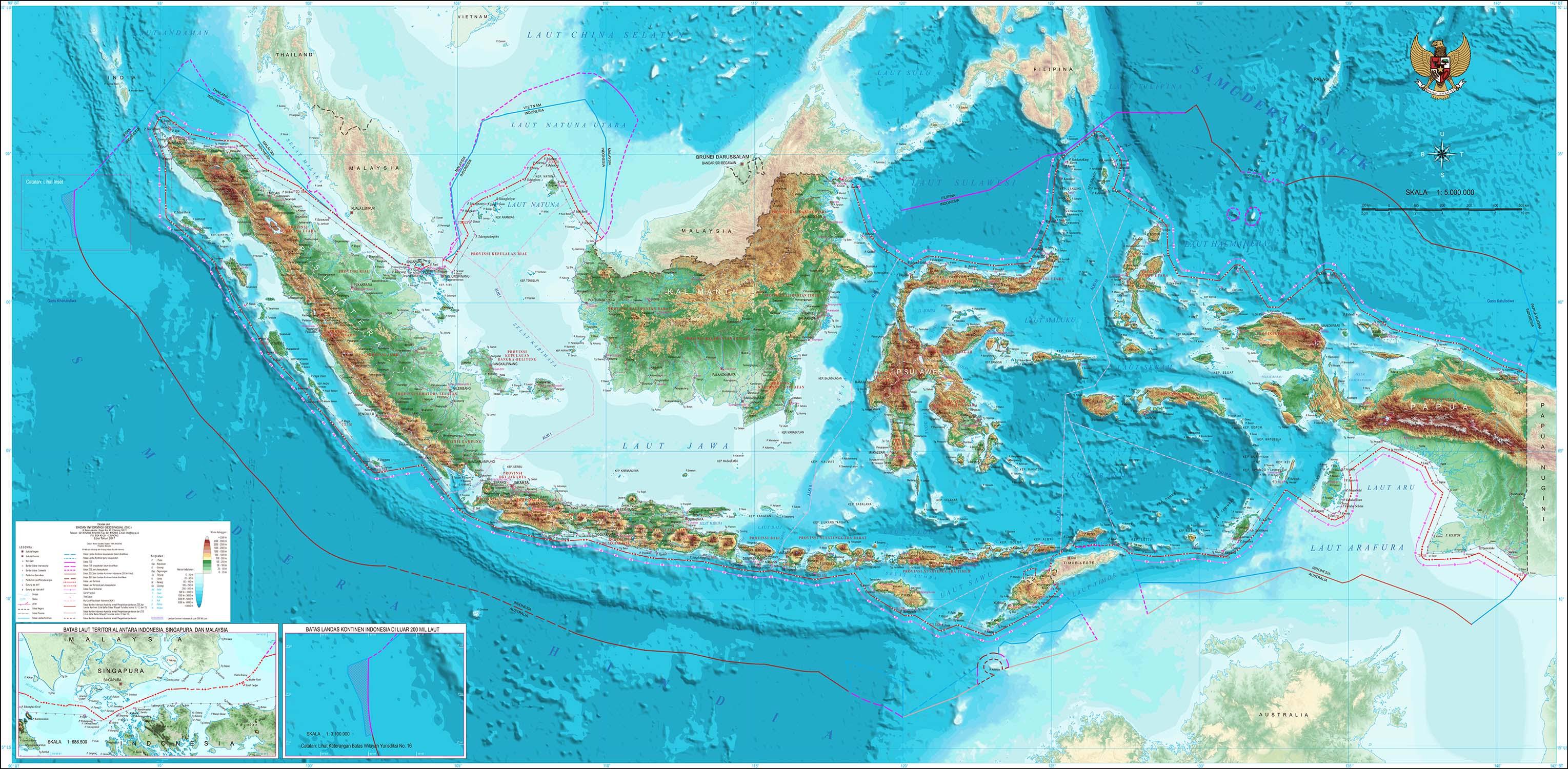 Jual Peta Indonesia Ukuran Besar