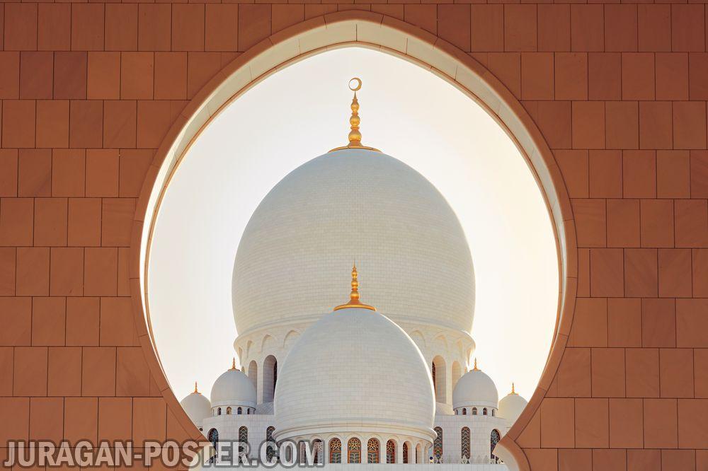 jual poster masjid di abu dhabi
