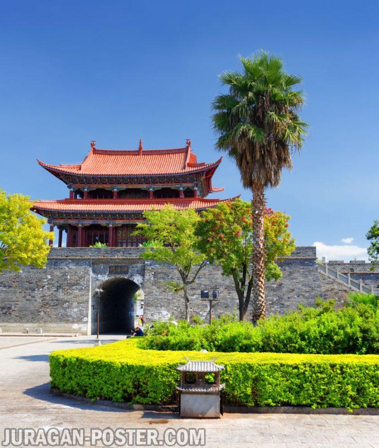 jual poster pemandangan kota china