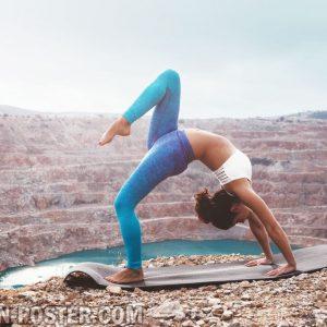 jual poster gambar pose yoga