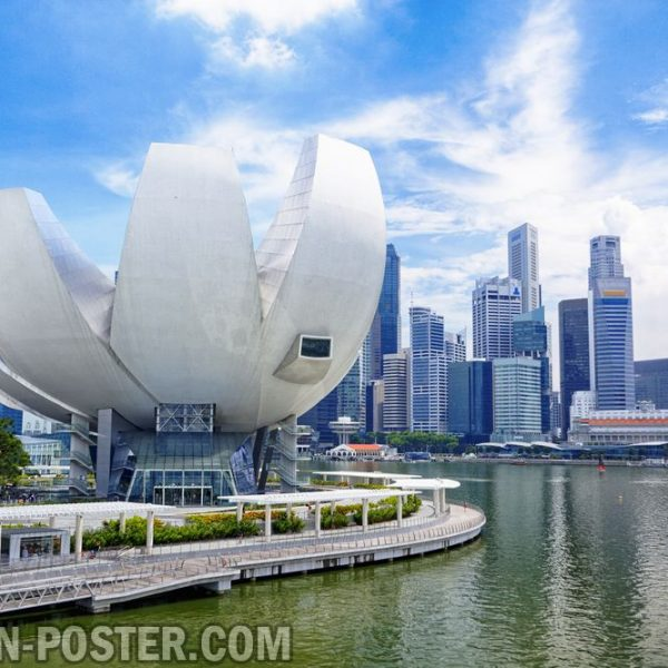 jual poster pemandangan kota singapura
