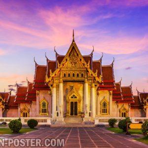 jual poster pemandangan kota thailand