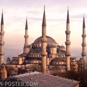 jual poster pemandangan kota turki