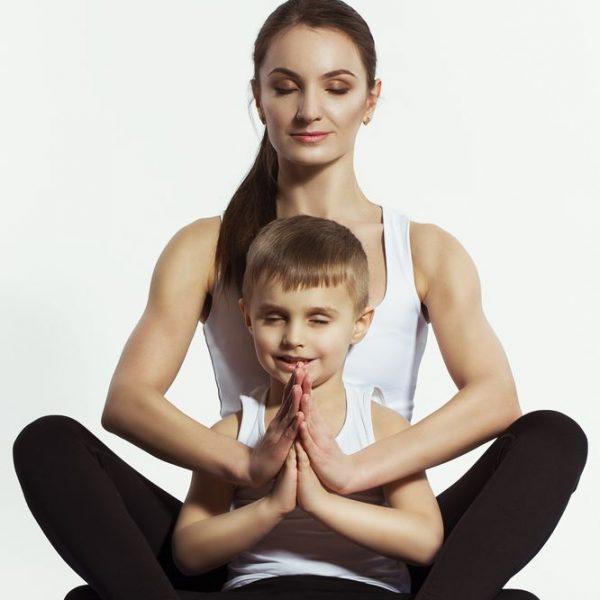 jual poster yoga ibu dan anak