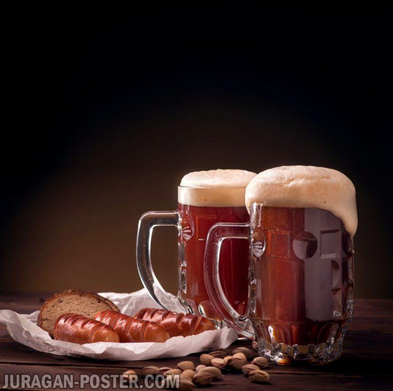 jual poster gambar Beer and Snacks