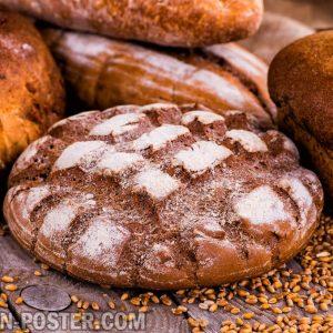 jual poster gambar makanan roti