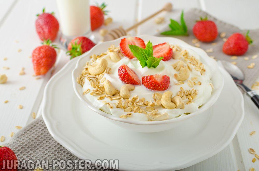 jual poster gambar makanan breakfast 01