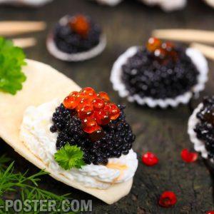 Jual poster makanan gambar caviar