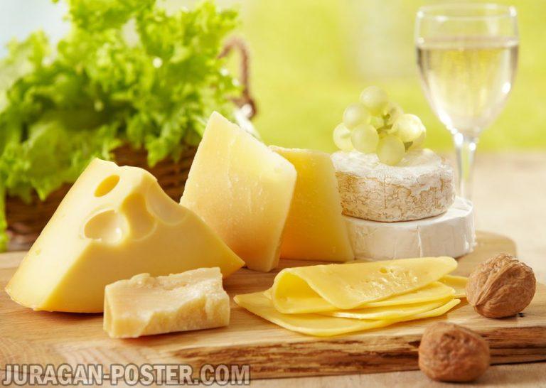 jual poster gambar makanan keju cheese