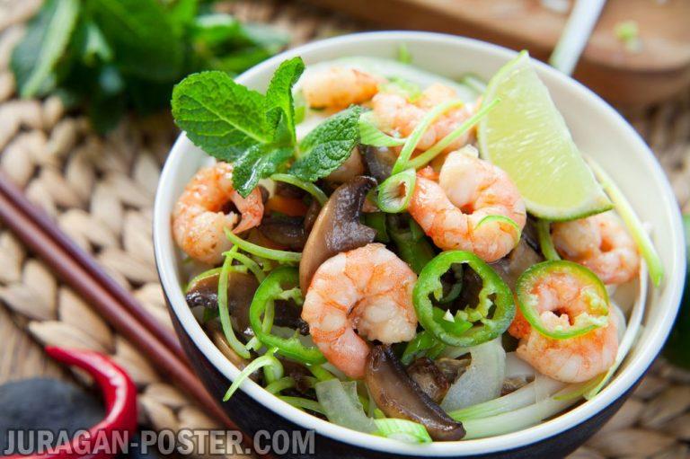jual poster gambar makanan Chinese Foods