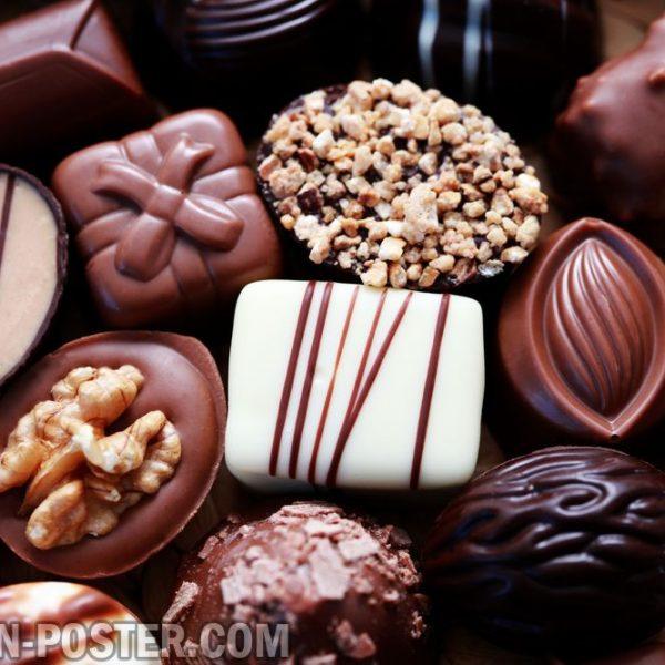 Jual poster gambar permen coklat