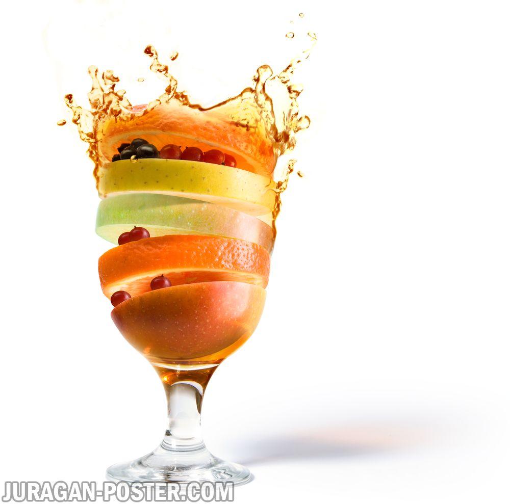 jual poster gambar minuman cocktail