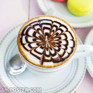 jual poster gambar minuman capucino kopi
