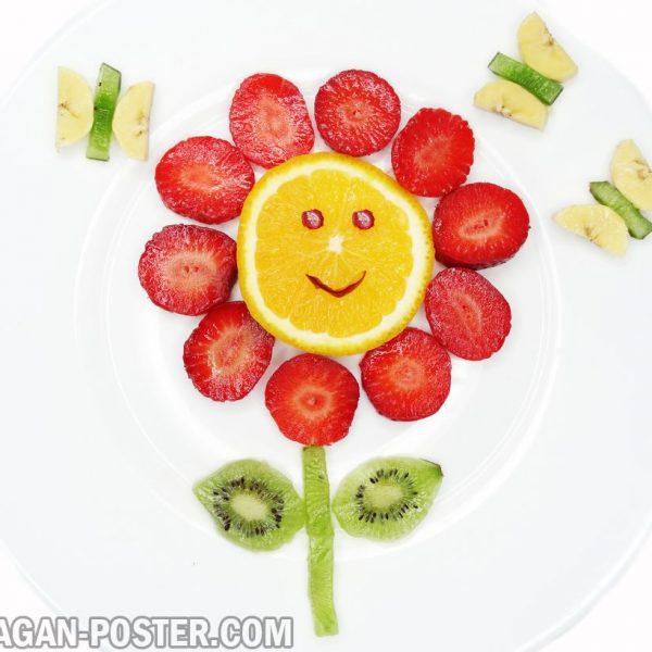 jual poster gambar buah Creative fruit dessert