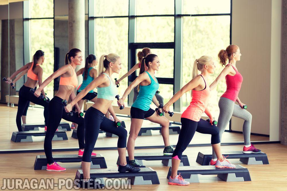 Jual poster gambar fitness aerobic