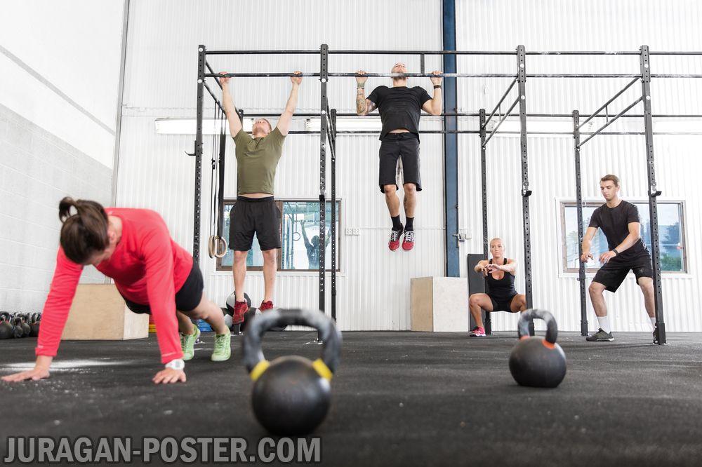 jual poster gambar fitness crossfit gym