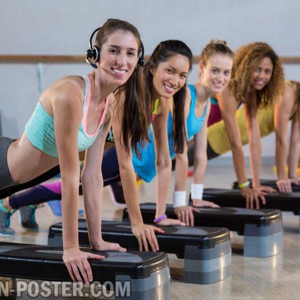 Jual poster gambar olahraga fitness gym
