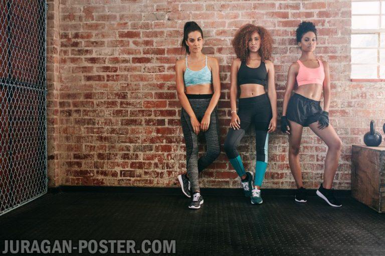 jual poster gambar fitness gym wanita