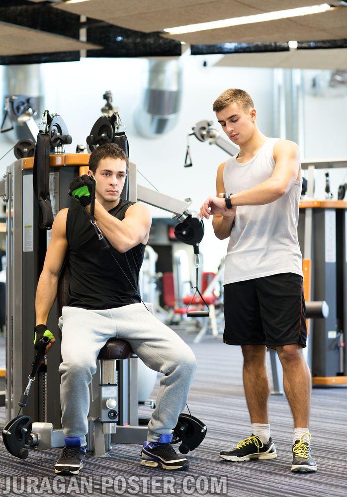 jual poster gambar tubuh ideal fitness gym