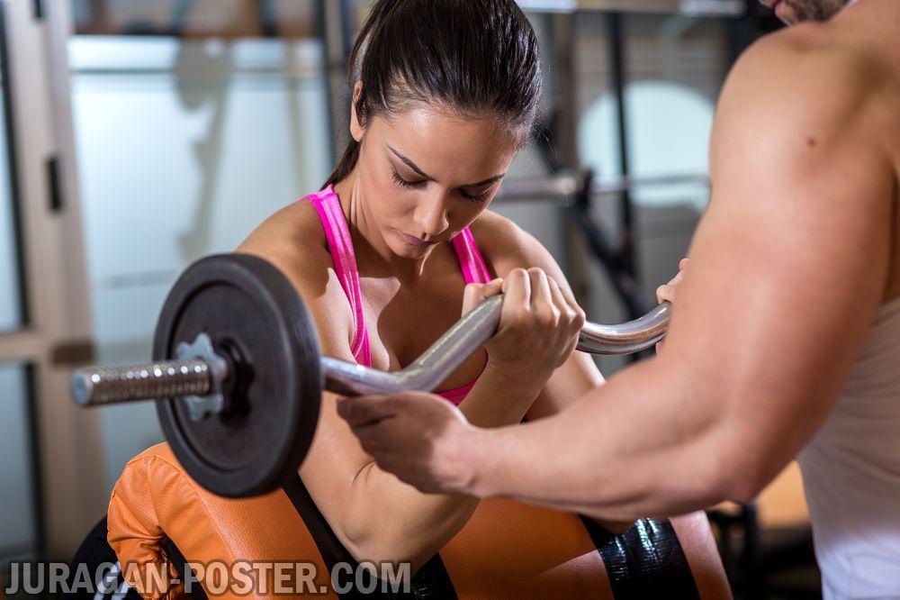 jual poster gambar fitness gym