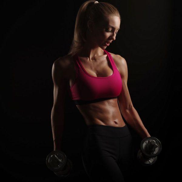 jual poster gambar wanita berotot fitness