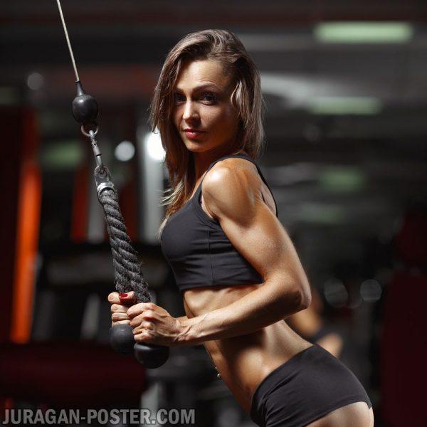 Jual poster gambar wanita fitness