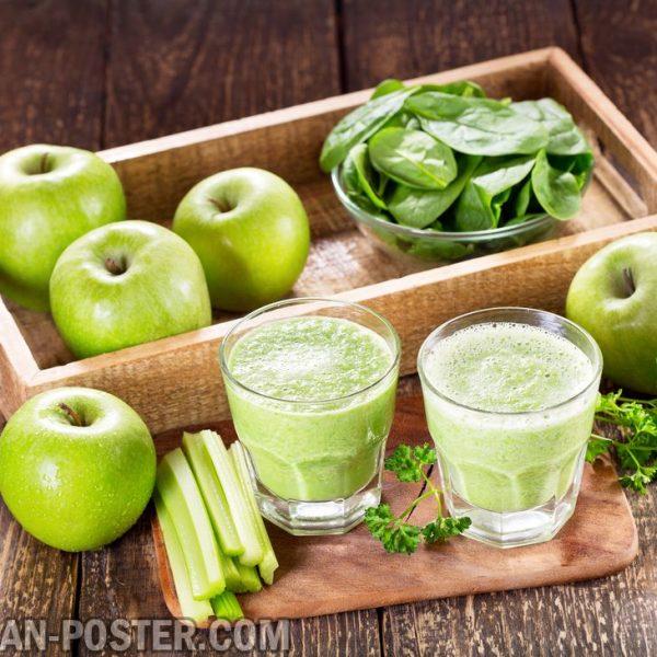 jual poster gambar minuman jus buah dengan sayuran