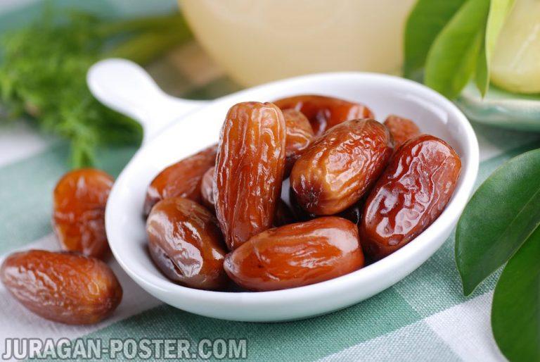 jual poster gambar buah kurma