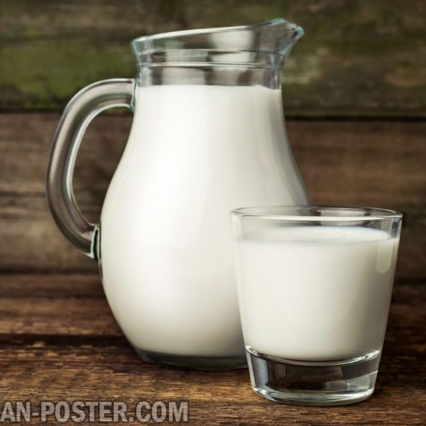 Milk Of Cow In Glass And Jug And Dairy Products Jual Poster Di Juragan Poster