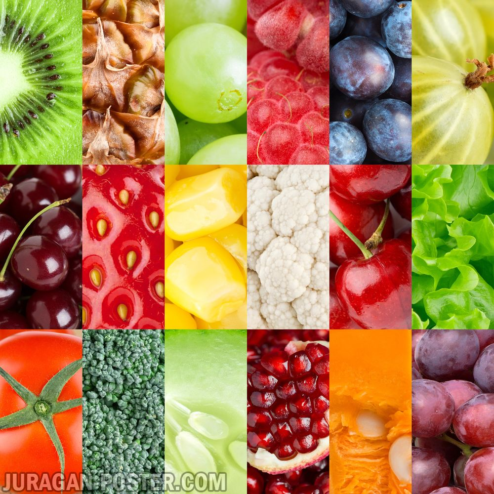 Jual poster gambar buah-buahan