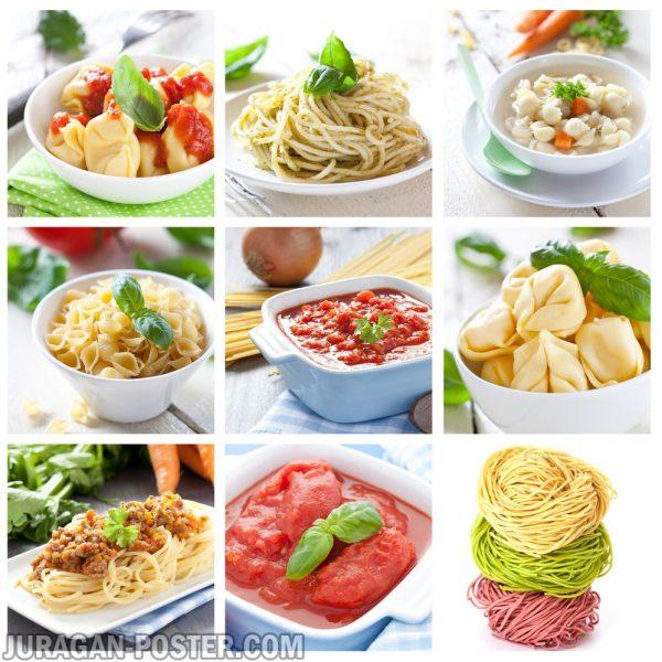 Jual poster gambar makanan pasta 01