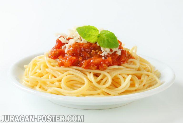 Jual poster gambar makanan pasta 02