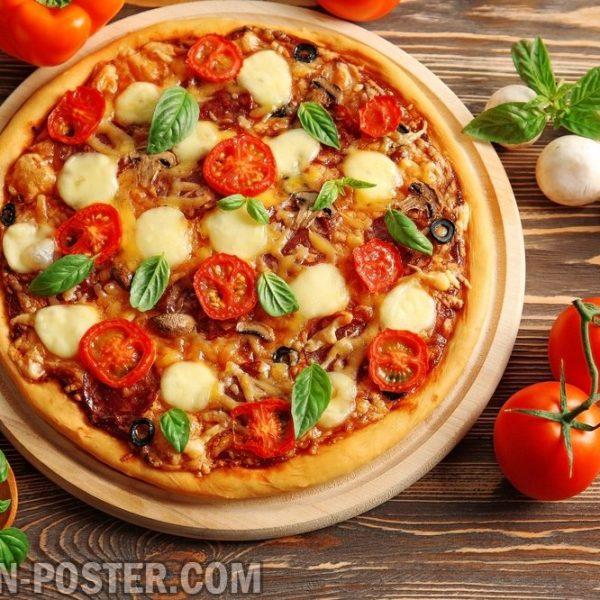 jual poster gambar pizza 02