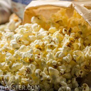 Jual poster gambar makanan Popcorn