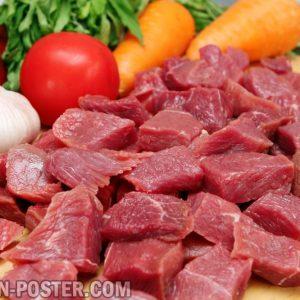 jual poster gambar daging mentah