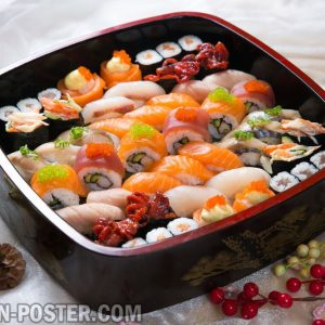 jual poster gambar makanan Sushi and other japanese food 02