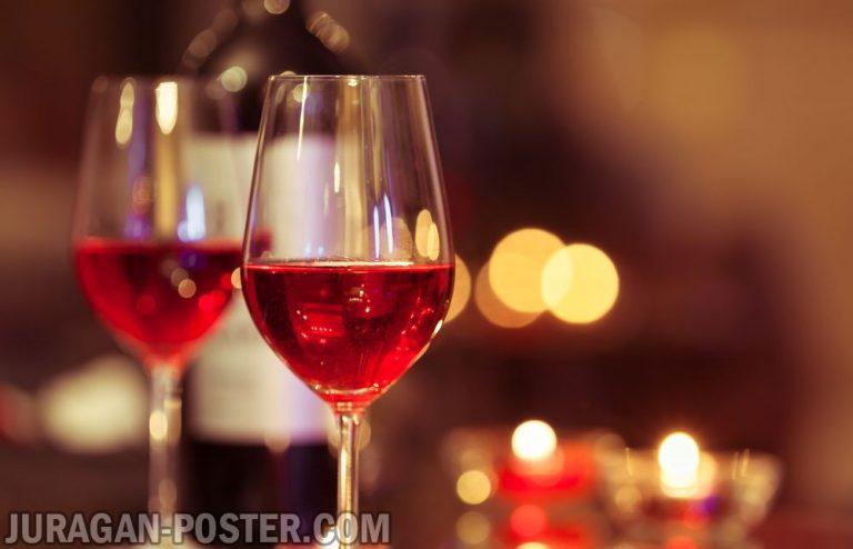 jual poster gambar minuman wine