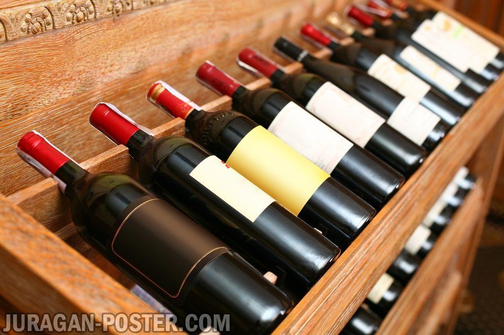 jual poster gambar wine cellar