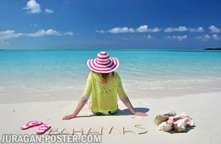 Jual poster gambar pemandangan pantai beach 03