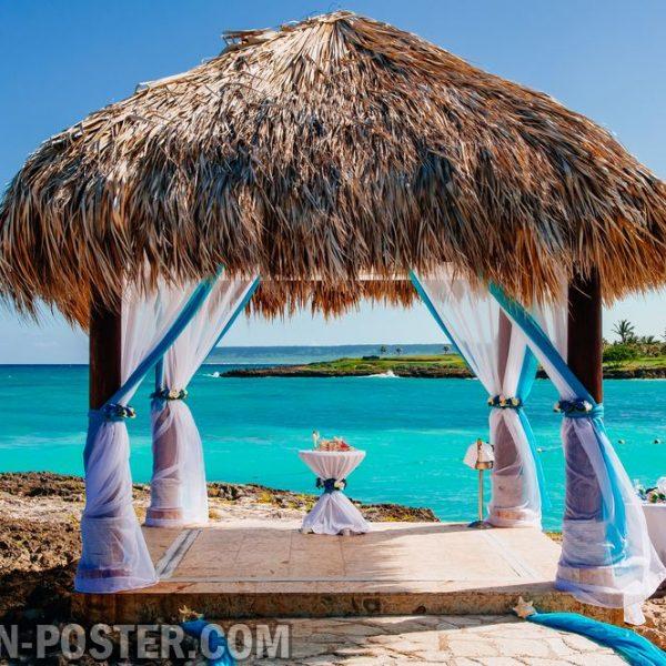 Jual poster gambar pemandangan pantai beach 04