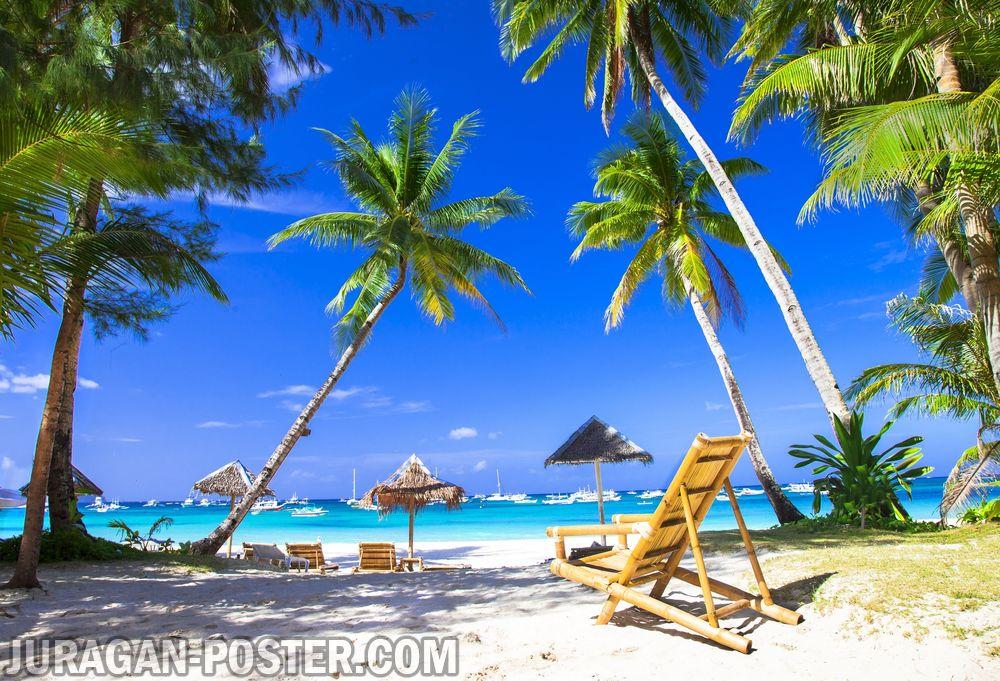Jual poster gambar pemandangan pantai beach 05