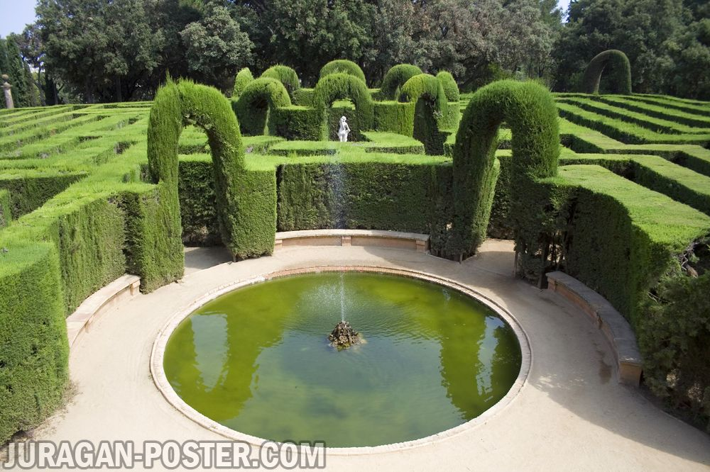 Jual poster gambar pemandangan alam taman garden