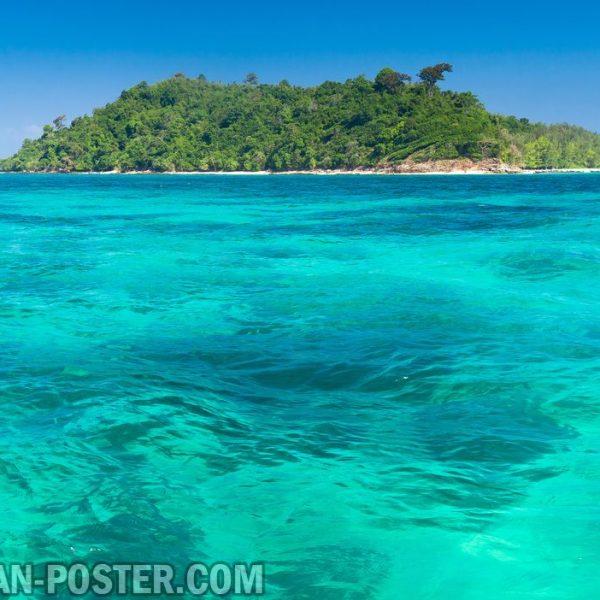 Jual poster gambar pemandangan alam pulau island 01