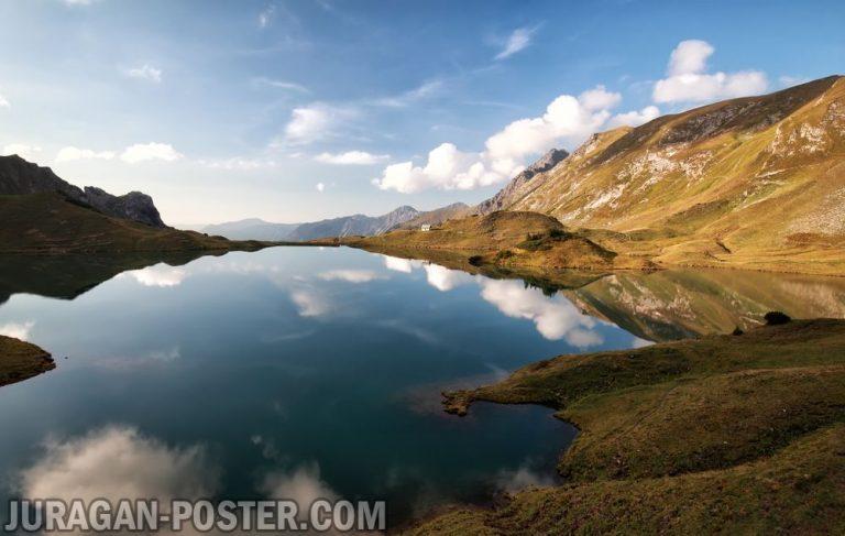Jual poster gambar pemandangan danau lake 01